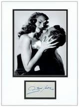 Glenn Ford Autograph Signed Display - Gilda