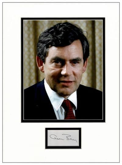 Gordon Brown Autograph Signed Display