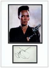 Grace Jones Autograph Signed Display