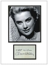 Grace Kelly Autograph Signed Display