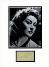 Greer Garson Autograph Signed Display