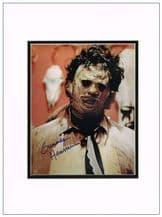 Gunnar Hansen Autograph Photo - Texas Chain Saw Massacre