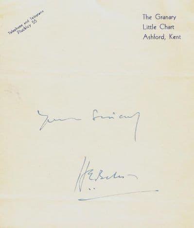 H E Bates Autograph