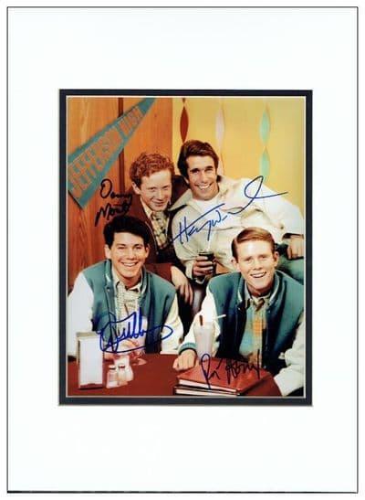 Happy Days Cast Autograph Signed Photo