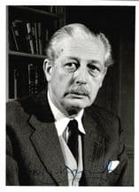 Harold Macmillan Autograph Signed Photo