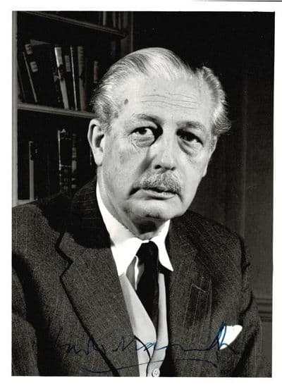 Harold Macmillan Autograph Signed Photo