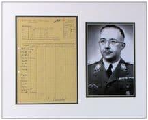 Heinrich Himmler Document Signed