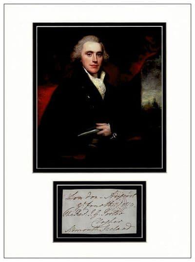 Henry Addington Autograph Signed Display - British Prime Minister