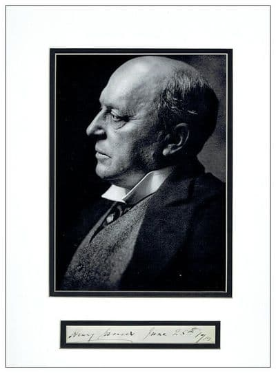 Henry James Autograph Signed Display