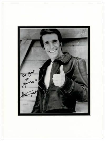 Henry Winkler Autograph Signed Photo - The Fonz