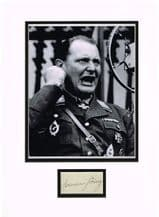 Hermann Goering Autograph Signed Display