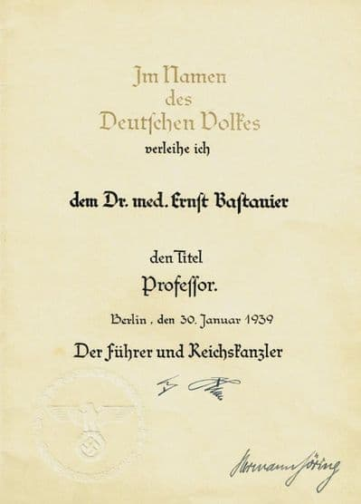 Hermann Goering Autograph Signed Document
