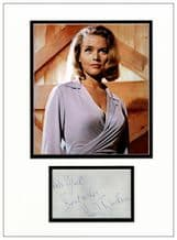 Honor Blackman Autograph Signed - Pussy Galore