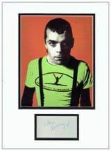 Ian Dury Autograph Signed Display