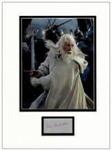 Ian McKellen Autograph Signed Display - Gandalf