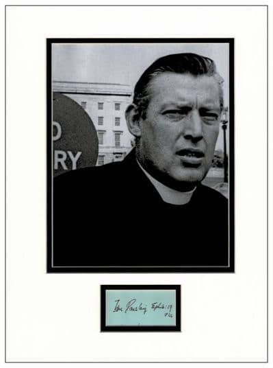 Ian Paisley Autograph Signed Display