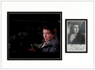 Ilse Steppat Autograph Signed Display Irma Bunt James Bond