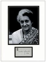 Indira Gandhi Autograph Display