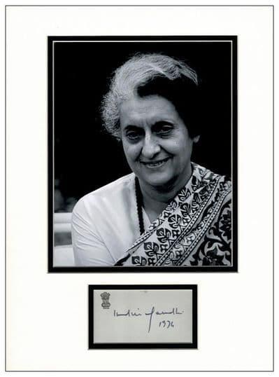 Indira Gandhi Autograph Display
