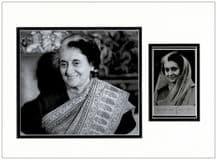 Indira Gandhi Autograph Signed Photo Display