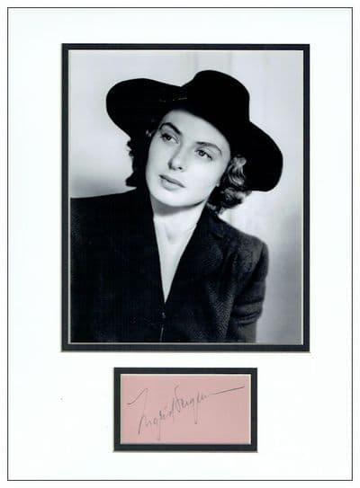Ingrid Bergman Autograph Signed - Casablanca