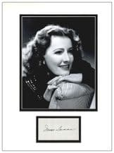 Irene Dunne Autograph Signed