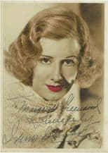 Irene Dunne Autograph Signed Photo