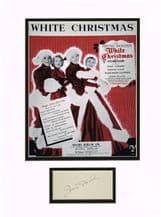 Irving Berlin Autograph Signed Display - White Christmas