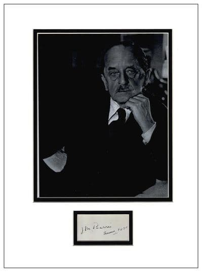 J M Barrie Autograph Signed Display - Peter Pan