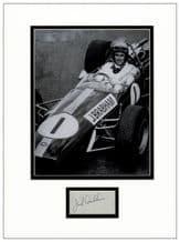 Jack Brabham Autograph Signed Display