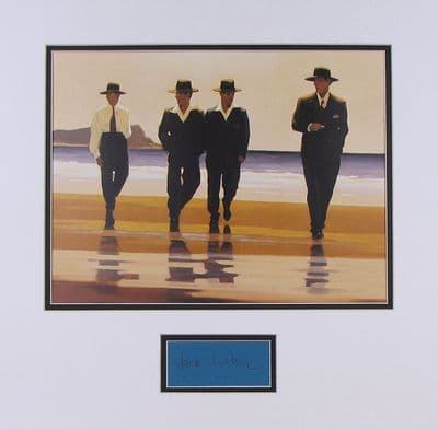 Jack Vettriano Authentic Autograph Display - The Billy Boys