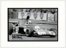 Jackie Stewart Autograph Photo Signed