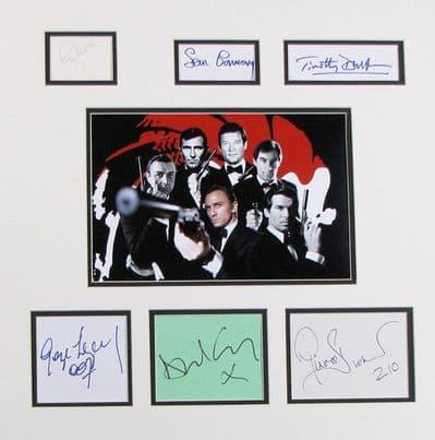 James Bond Autograph Signed Display