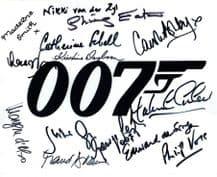 James Bond Cast Autograph Signed Photo