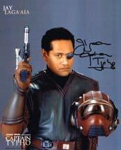 Jay Laga'Aia Autograph Signed Photo - Captain Typho