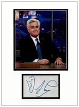 Jay Leno Autograph Signed Display