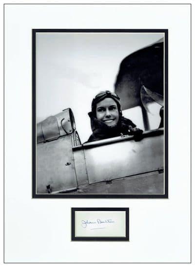 Jean Batten Autograph Signed Display