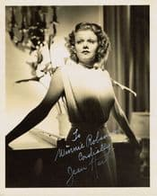 Jean Harlow Autograph Signed Photo - Mama Jean