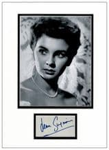 Jean Simmons Autograph Signed Display