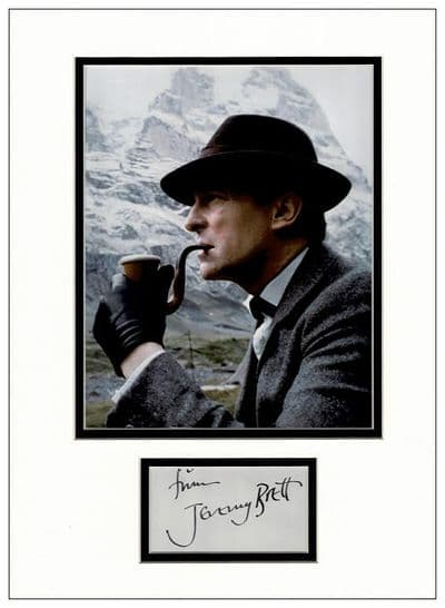 Jeremy Brett Autograph Signed - Sherlock Holmes