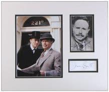 Jeremy Brett & Edward Hardwicke Autograph Display - Sherlock Holmes