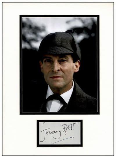 Jeremy Brett Signed Display - Sherlock Holmes