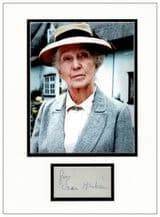 Joan Hickson Autograph Display - Miss Marple
