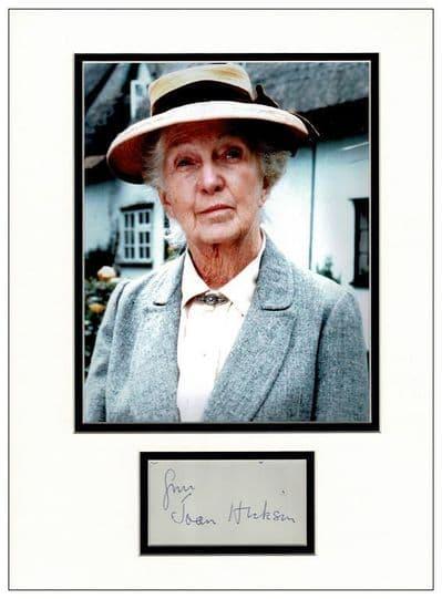 Joan Hickson Autograph Display - Miss Marple