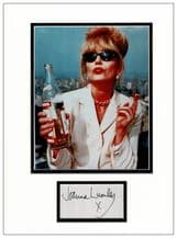 Joanna Lumley Autograph Signed Display - Ab Fab