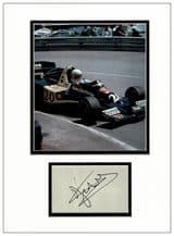 Jody Scheckter Autograph Display