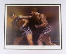 Joe Louis & Max Schmeling Autograph Signed Display