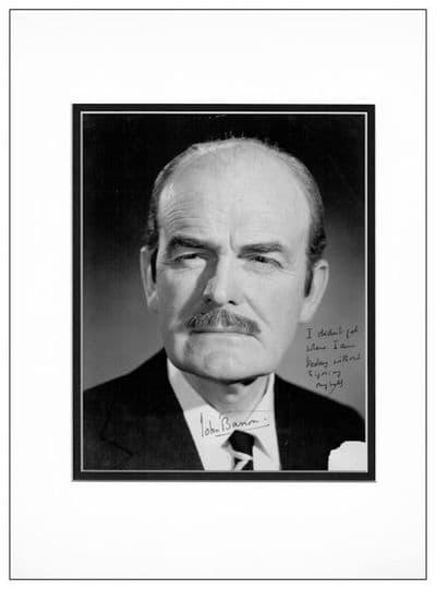 John Barron Autograph Signed Photo - Reggie Perrin