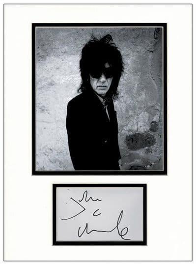 John Cooper Clarke Autograph Signed Display