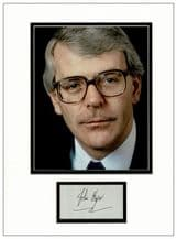 John Major Autograph Signed Display